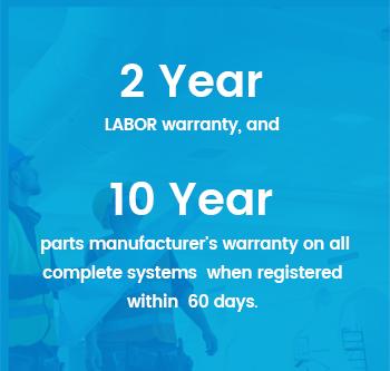 2 year labour warranty